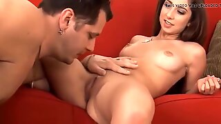 Fascinating legal age teenager tastes an experienced mature