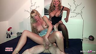 German Mom Caught Couple Fuck and Join in FFM Threesome