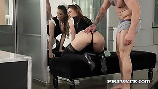 Perky ass Russian slut Mary blows the cock she chose for her neat pussy