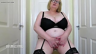 Granny student with huge ample bosoms and big ass
