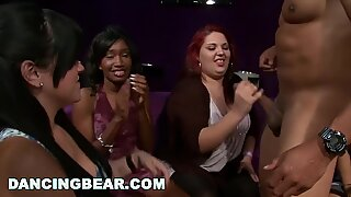 DANCINGBEAR - Wild CFNM Party With Gang Of Horny Sluts Lining Up For Cock