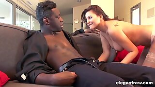 Lonely Escort Pounded by Chocolate Cock