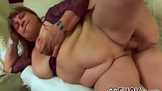 Chubby gilf Dominika still wants young cum on her tits