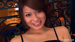 Very impulsive beautiful asian milady gives two guys in all her holes.