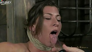 Juggy girl Ariel getting her nipples squeezed