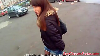 Babe pickedup in public and fucked in pov