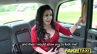 Fake Taxi Huge meaty pussy lips hang over and grip