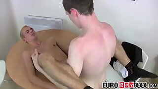 Damion and Luke find pleasure in the bareback anal pounding