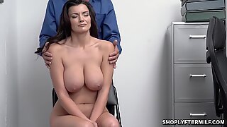 Big tittied Becky on her knees sucking Tommy